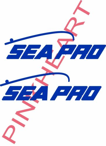 SEA PRO decal pair boats stickers sticker decals Boat Logo seapro Decals USA