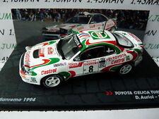 voiture 1/43 IXO Altaya Rallye ITALIE : TOYOTA Celica turbo 4 WD 1994 Auriol