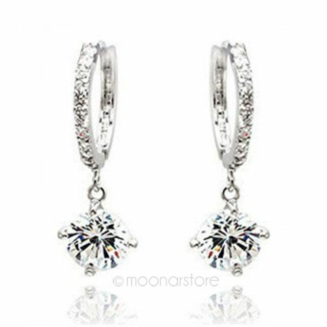 Fashion Women Silver/Gold Plated Crystal Rhinestone Stud Earrings Hoop 2015 D4