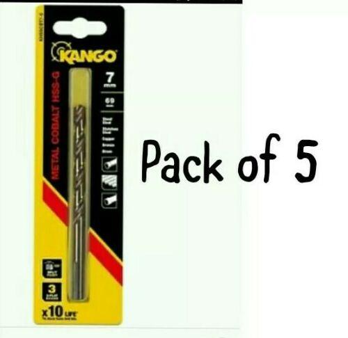 Kango Metal Cobalt HSS-G Drill Bit Various sizes SET OF 5 Round Shank 71:22