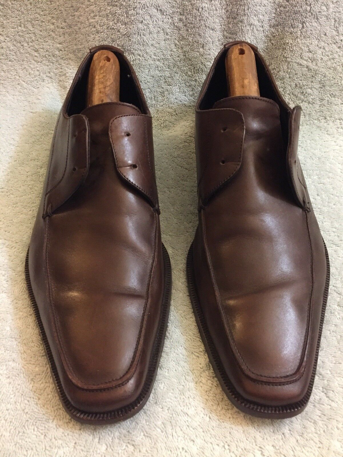 Bruno Magli Ranunclo  Men's Oxfords Dress Leather shoes Size 9.5 M  Brown