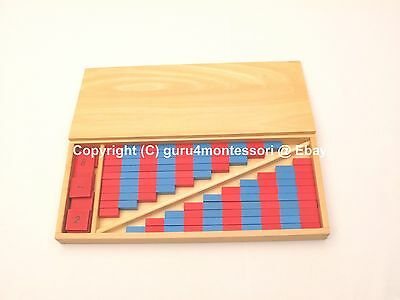 NEW Montessori Mathematics Material - Small Numerical Rods with Number Tiles