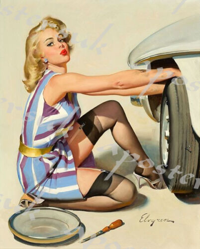 Vintage Pin Up Poster 6589 A3//A4 Print