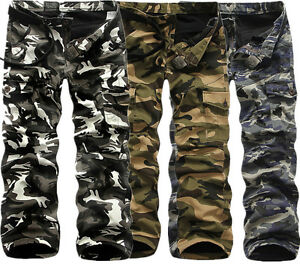 New-Winter-Pants-Mens-Warm-Casual-Army-Cargo-Camo-Camouflage-Work-Thick-Trousers