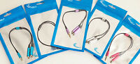 Splitter Cable Headphone Headset Earphone Aux 3.5mm For Iphone 6 4s 5 Ipod Mp3