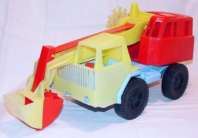 Miss o Rolly JUGUETE 1 24 Krupp Camión grúa digger Fauno agarrar 38cm plástico 1974 Rara