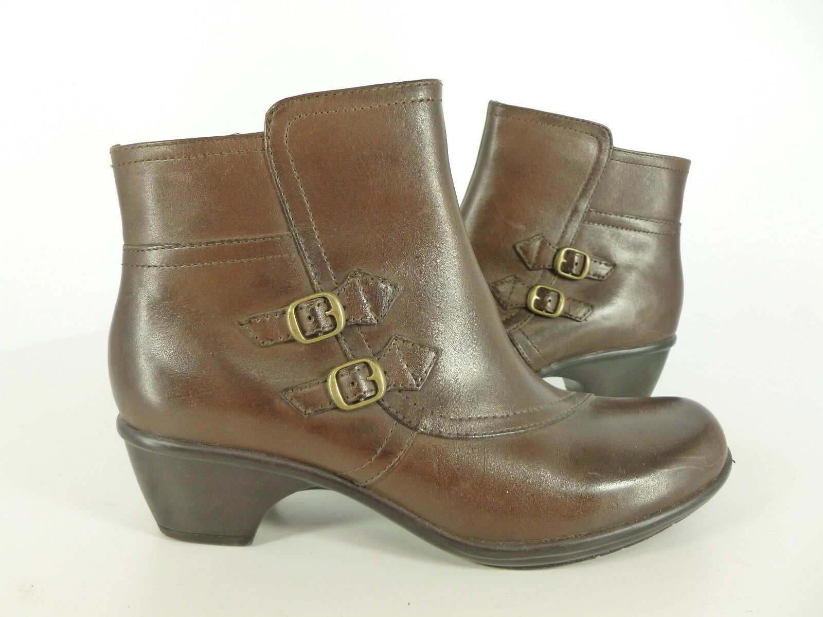 Damenschuhe Clark's Braun Fashion Ankle Stiefel Heels Zipper 84045 Größe 9 Inside Zipper Heels Zip 6a3e9b