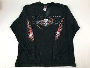 HARLEY-DAVIDSON-Willie-G-Skull-Barbed-Wire-T-Shirt-USA-XL-Genuine-RK-Stratman