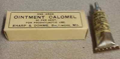 "1920'S Sharp & Dohme Ointment Calomel 1920'S ""UNOPENED"""