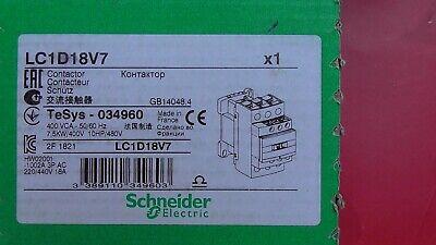 LC1D18P7  230V   7,5kW 10Hp SCHNEIDER  Contacteur LC1D18   TELEMECANIQUE
