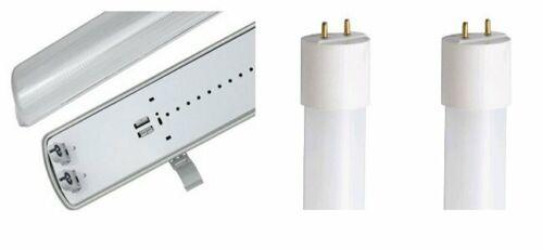 #8151 LED Leuchte Feuchtraum kalt weiß mit 2 x Röhre 60 cm