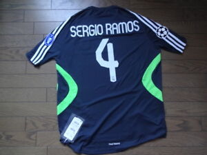 Real Madrid  4 Sergio Ramos 100% Original Jersey Shirt 2007 08 CL ... 12fdcffad