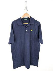 Amen-Corner-Masters-Polo-Shirt-Men-Large-Blue-Cotton-Golf-Augusta