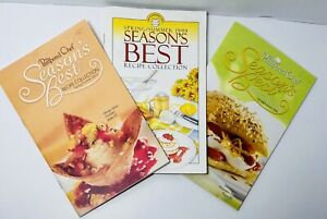 Lot of 3 Pampered Chef Seasons Best Recipe Collection Cookbooks 1999 2005 2006