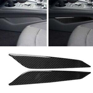 Carbon-Fiber-Gear-Shift-Side-Panel-Cover-Trim-Frame-Sticker-For-Audi-A4-B9-17-19