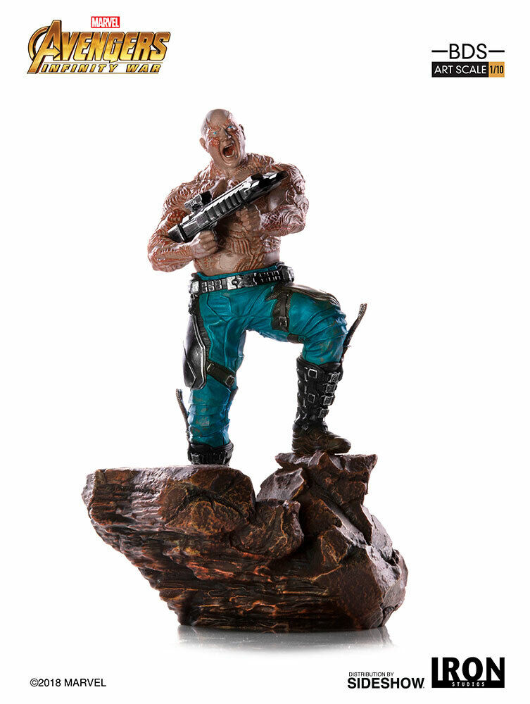 Marvel Art Scale Statue Avengers Infinity War Battle Diorama - Drax Iron Studios