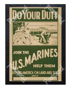 Historic-WWI-Recrutiment-Poster-join-the-U-S-Marines-Postcard
