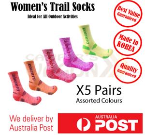 Socks-Sports-Outdoor-Run-Travel-Work-Crew-All-Season-Fast-Drying-Women-5-Pairs