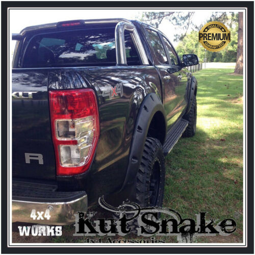 Kut Snake Wheel Arches Fender Flares for Ford Ranger PXII 2015-on ...