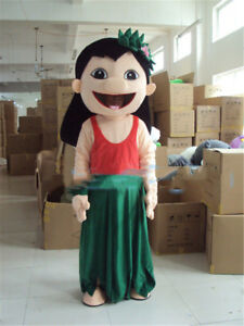 Lilo Of Lilo Stitch Mascot Costume Adult Cosplay Unisex Cartoon Birthday Dress Ebay