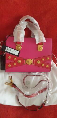 3a8c49459004 Tote Tribute Stud Versace Brand Medusa I New Pink qaZ8W18