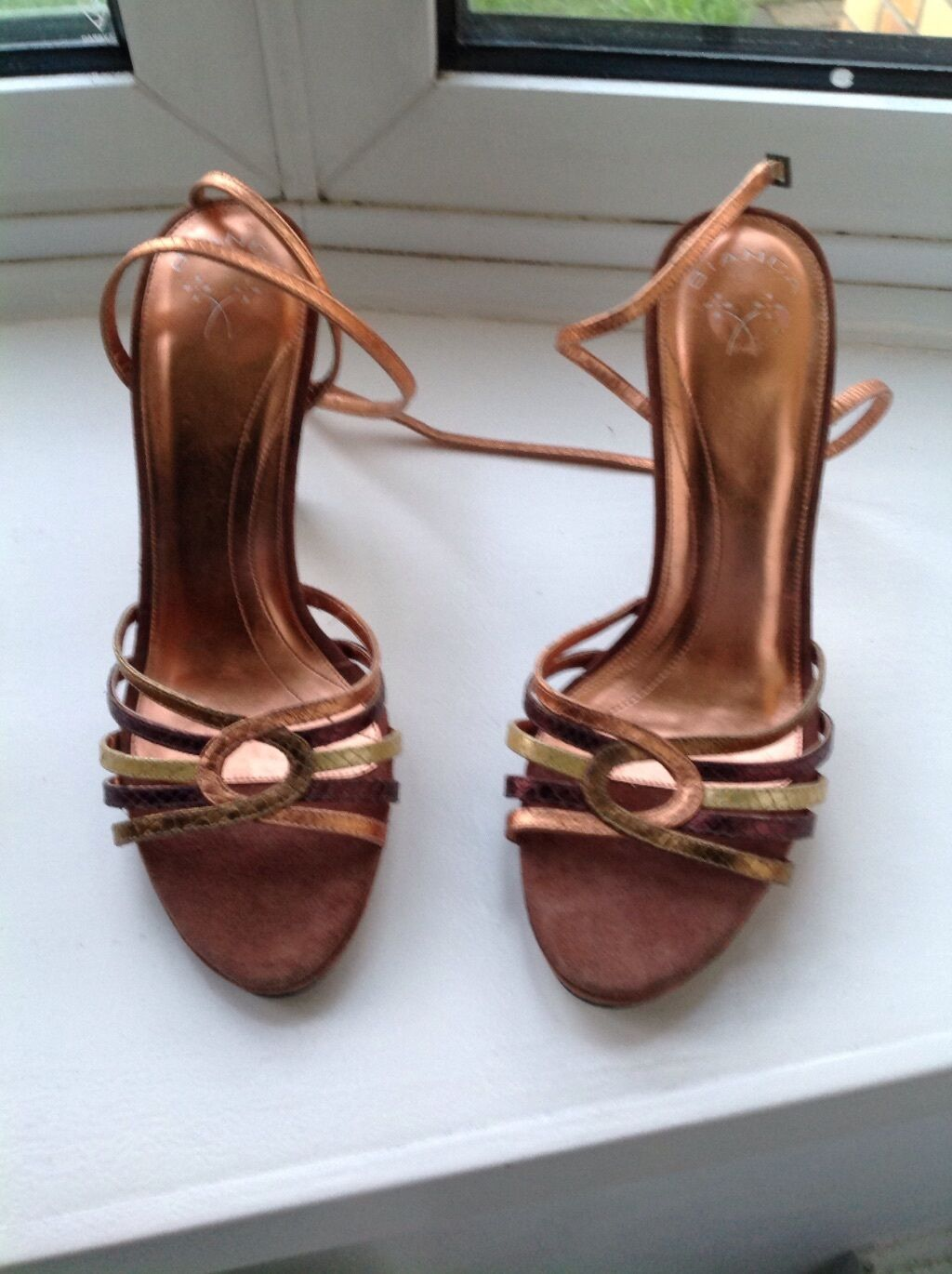Women Strappy Leather Heeled Sandals in multi colours.New, 6UK/39EU
