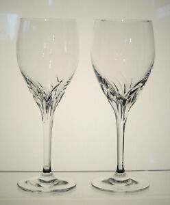 YVONNE-NACHTMANN-Germany-Crystal-White-Wine-Glasses-7-1-4-034-SET-of-TWO-Signed