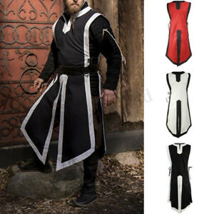 Medieval-Vintage-Mens-Womens-Tunic-Top-Shirt-Viking-Knight-Cosplay-Costume-Party