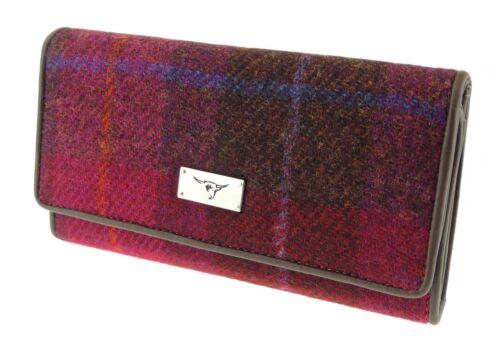 Ladies Authentic Harris Tweed Long Purse Multi Check LB2106 COL 52