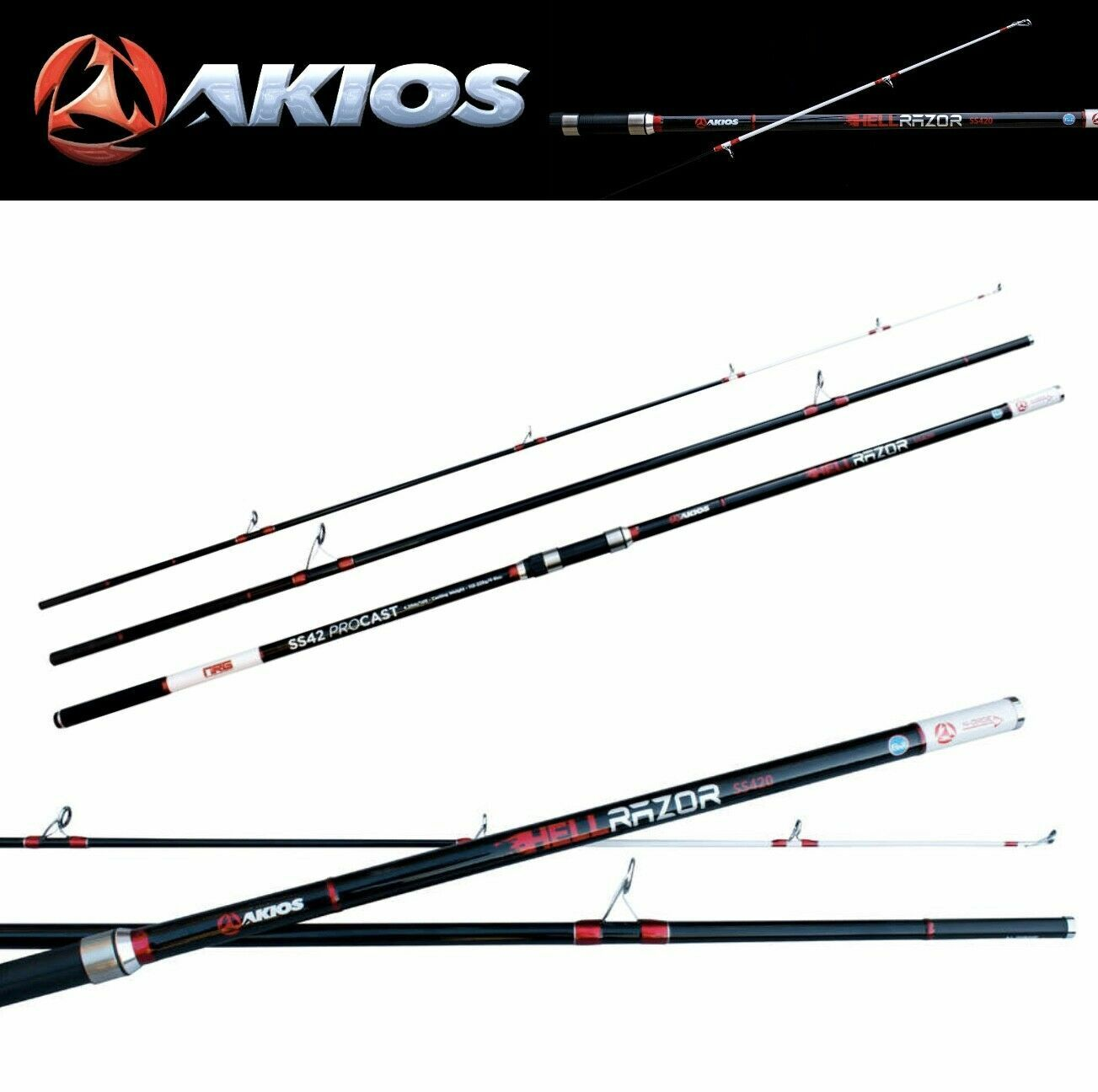 AKIOS  SURFCASTING ROD HELLRAZOR SS420  sale online