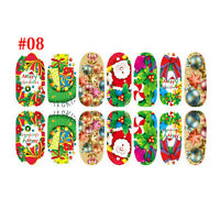 FULL NAIL WRAPS FOILS STICKERS - Art Decals Glitter Foil Transfers Designs - Hot