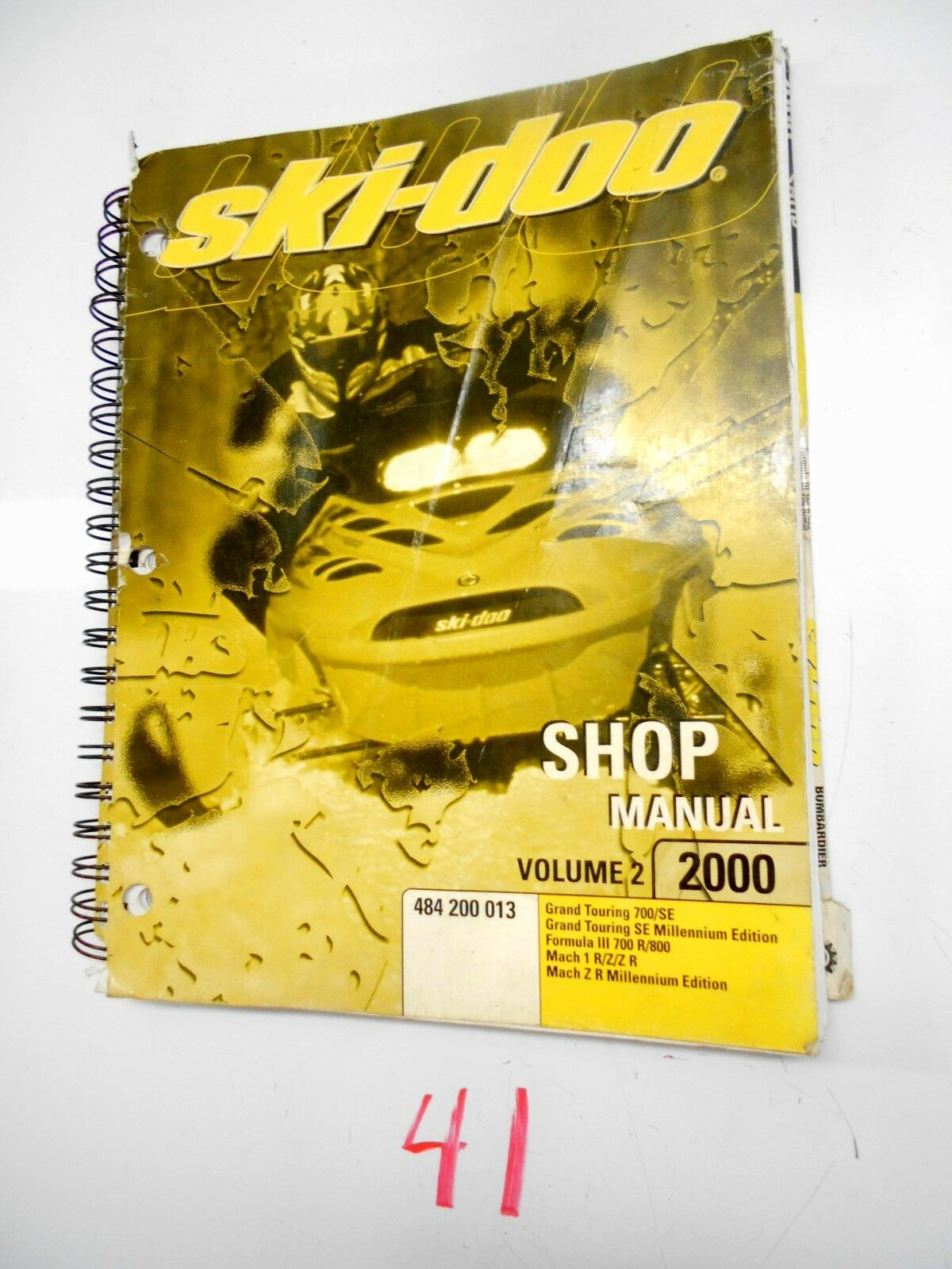 2000  SKI-DOO SNOWMOBILE SHOP VOLUME 2 MANUAL  484 200 013  the newest brands outlet online