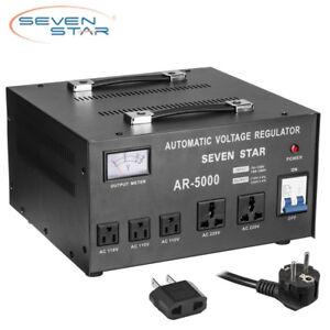 image is loading sevenstar-ar-5000w-watt-up-down-transformer-regulator-