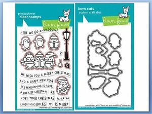 LF1468 Lawn Fawn Clear Stamps 4X6-Here We Go A-Waddling