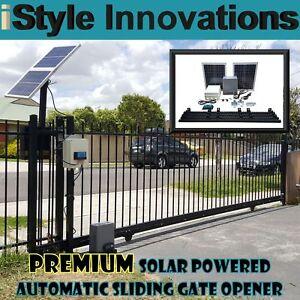 Solar Powered Automatic Sliding Gate Opener Ebay