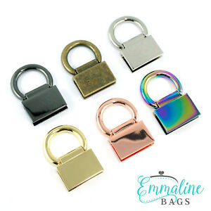 range of finishes for bag making Emmaline Bags Strap anchor edge connectors