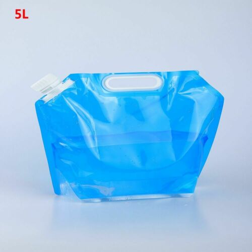 Camping Outdoor Folding Water Bag Drinking Bottle Bucket Carrier Containter