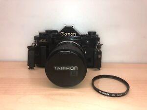 Canon A-1 35mm Film Camera ~ Vintage Body w/ TAMRON 35-70mm 1:3.5 Macro UV JAPAN