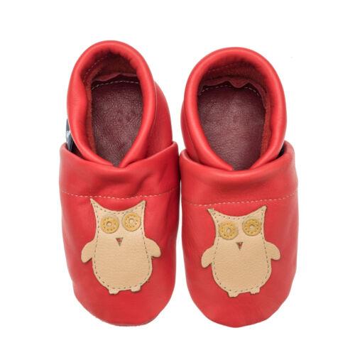 Lauflernschuhe Baby Krabbelschuhe Eule Pantau Kinder Lederpuschen Babyschuhe
