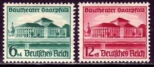 THIRD-REICH-1938-mint-Saarpfalz-Theater-stamp-set