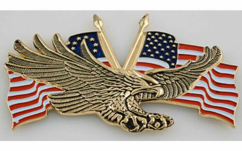 10,8 x 7 cm. Harley Goldwing Motorrad Fliegender Adler mit USA Flagge ca