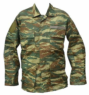 Greek Camo BDU Shirt - ALL SIZES - Greece Camouflage Lizard Pattern Army Shirt