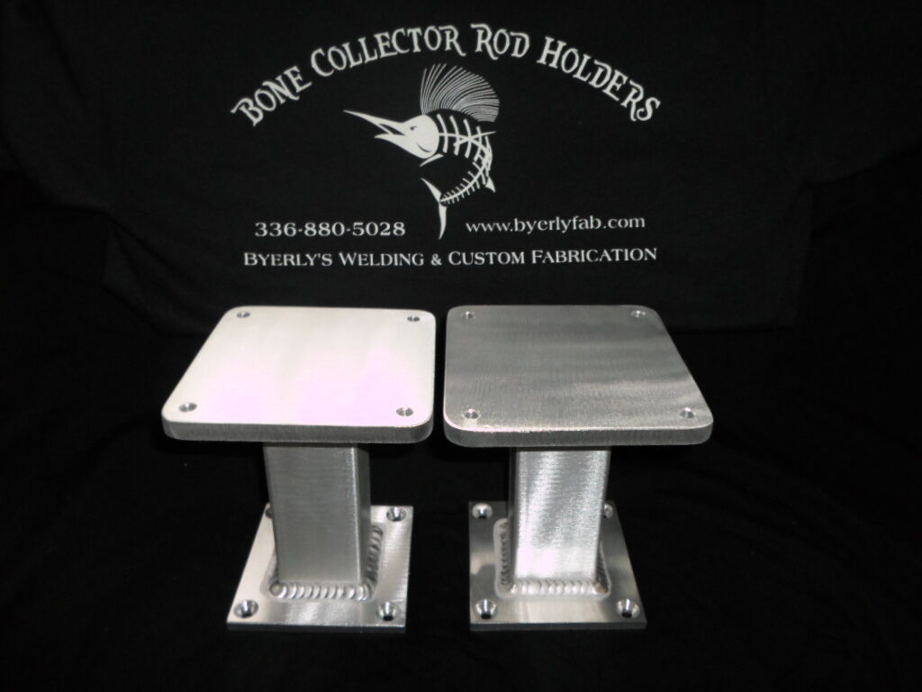 One Pair of Aluminum Downrigger Pedestals 5'' 5''x 6 Cannon or any size