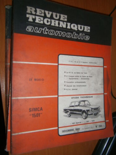revue tech RTA 284 Simca 1501 Spécial 1970