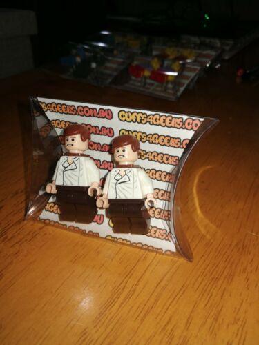 Big Bang Theory Star Wars Simpsons Genuine LEGO Minifig Cufflink Sets more