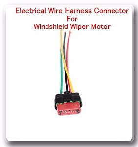 5 wire harness pigtail connector for windshield wiper motor fits rh ebay com Ford Radio Wiring Harness Ford Escape Wiring Harness Diagram