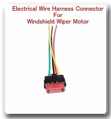 5 Wire Harness Pigtail Connector For Windshield Wiper Motor Fits: Ford |  eBayeBay