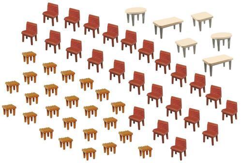 Faller 180438 - 1/87/h0 7 tables et 48 chaises-Neuf