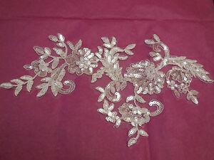 Grand-piece-Ivoire-Nuptial-Sequins-Dentelle-Florale-Applique-mariage-motif4