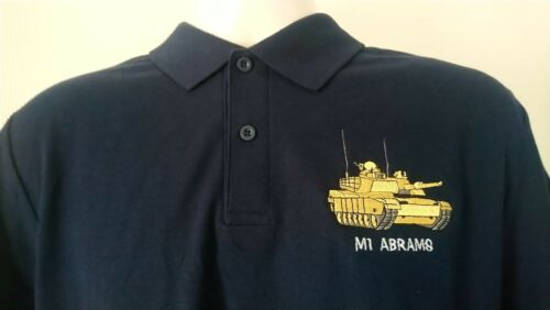 USA UNITED STATES ARMY M1 ABRAMS TANK POLO SHIRT